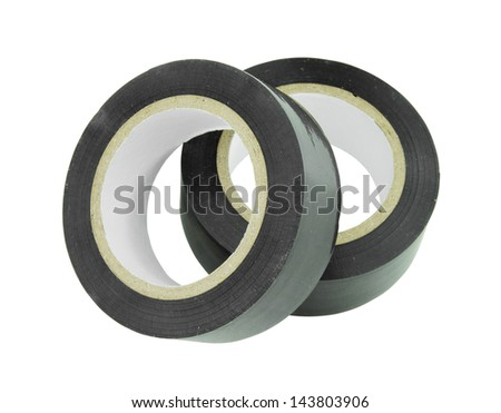 Roll of duct tape on white background (with clipping path)