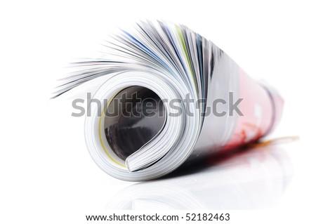 roll of magazine - stock photo