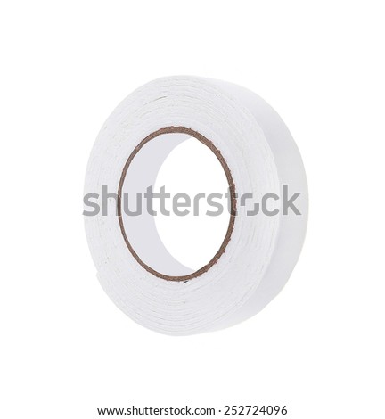 roll of masking tape on white - stock photo