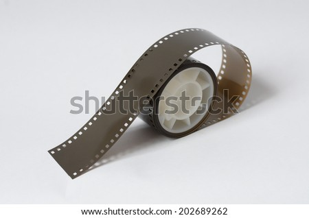 Roll of 35 mm film  - stock photo