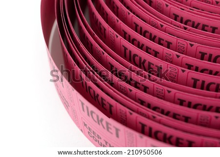 roll of red tickets  - stock photo