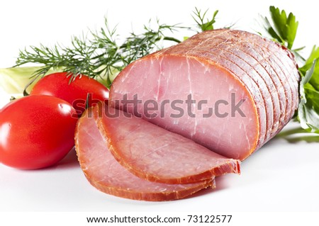 Rolled Fillet of Ham - stock photo