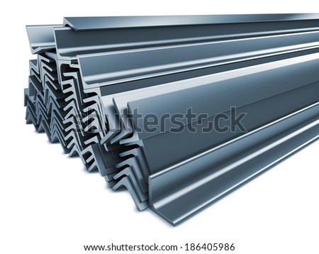 Rolled Metal Products Isolated on White Background.