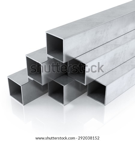 Rolled metal products or steel products. Isolated on white background - stock photo