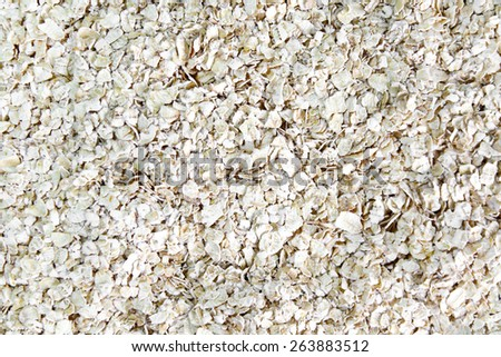 Rolled oats background. - stock photo
