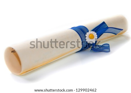 rolled sheet - stock photo