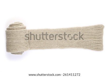 rolled wool scarf - stock photo