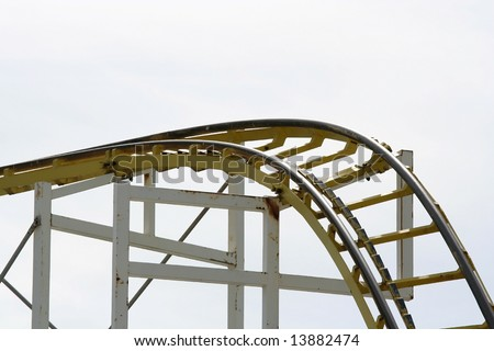 Roller Coaster detail at the funfair - stock photo