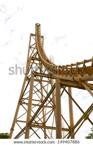 Roller Coaster's Loops! Please, check my other photos about roller coasters and theme parks! Thank you very much! - stock photo