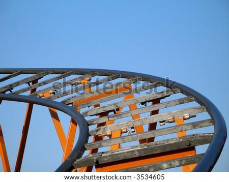 roller coaster tracks - stock photo