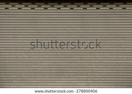 Roller shutter door texture as a background - stock photo