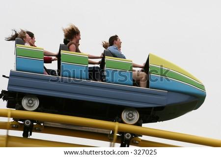 Rollercoaster Car - stock photo