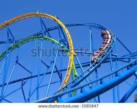 Rollercoaster Loops - stock photo