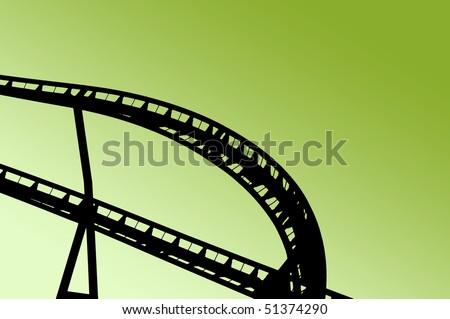 Rollercoaster shape on fun fair - stock photo