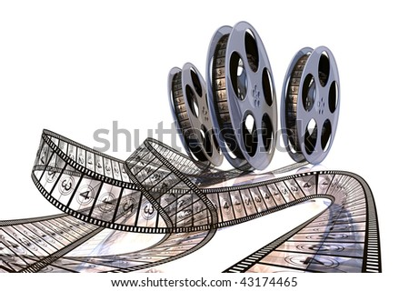 Rolling Films! Premiere countdown! Hi quality rendering image. - stock photo