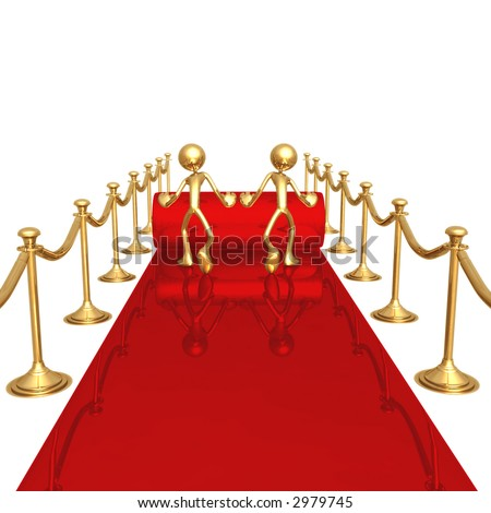 Rolling Out The Red Carpet - stock photo