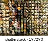 rolls of cloth - stock photo