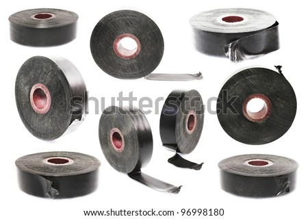 rolls of duct tape - stock photo
