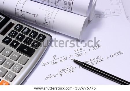 rolls electrical diagrams calculator mathematical calculations stock rh shutterstock com