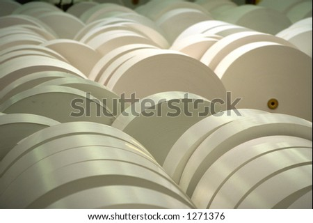 Rolls of printing paper - stock photo
