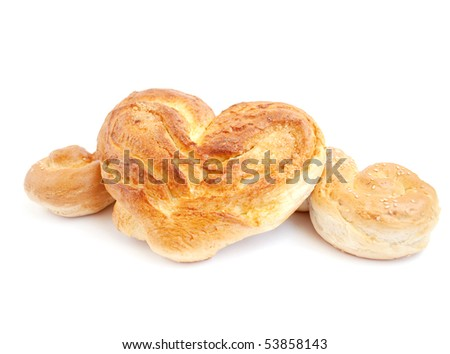 Rolls  on a white background