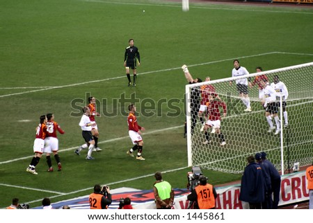 Roma against Inter football match in Rome - stock photo