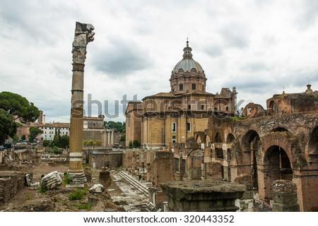 Roma Vaticano Italy Europe monumental city - stock photo