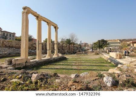 Roman Agora Athens - stock photo