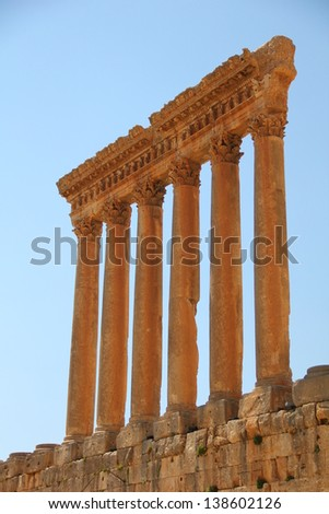 Roman ancient pillars