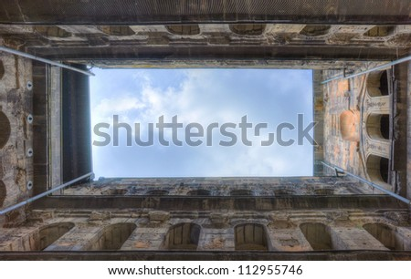 Roman building in Trier, Germany - stock photo