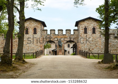 Roman castle Saalburg in the german Taunus mountains near Frankfurt Main