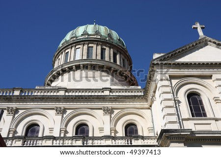 Roman Catholic Cathedral of the Blessed Sacrament in Christchurch, Canterbury, New Zealand - stock photo