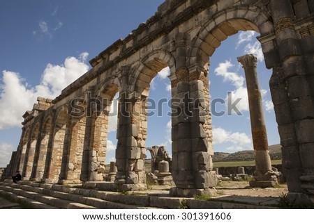 Roman City in Morocco - stock photo