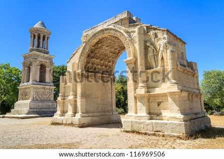 Roman City of Glanum, Triumphal Arch and Cenotaph, Saint-Remy-de-Provence, France