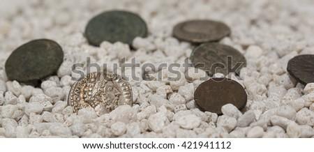 Roman coins - stock photo