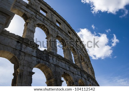 Roman colosseum in Pula, Croatia