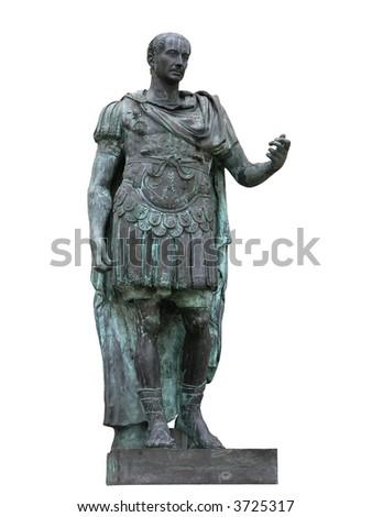 Roman emperor Julius Caesar statue - stock photo