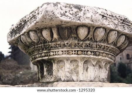 Roman Forum Column 1 - stock photo