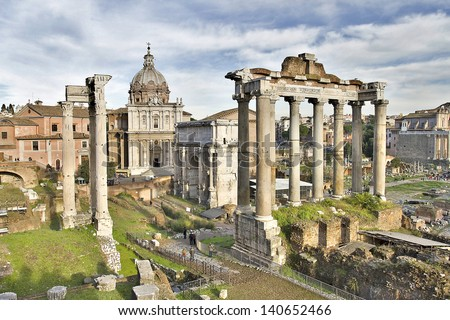Roman Forum, Rome. - stock photo