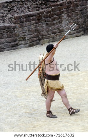 Roman Gladiator ready to fight