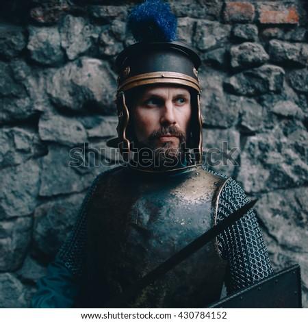 Roman legionary - stock photo