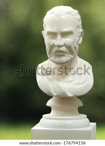 Roman marble bust - stock photo