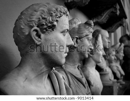 Roman  marble busts