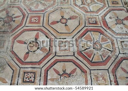 Roman mosaic floor - stock photo