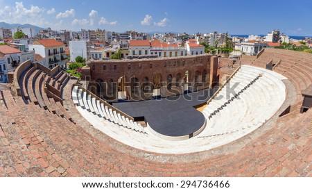 Roman Odeon, Patras, Greece - stock photo
