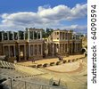 Roman ruins in Merida, Badajoz Province, Extremadura, Spain, UNESCO - stock photo
