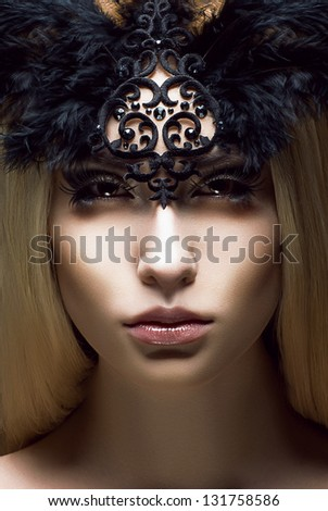 Romance. Close up Portrait of charming Woman. Victorian Style. Fantasy - stock photo