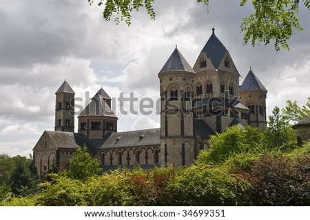 Romanesque Maria Laach Monastery in Germany - stock photo