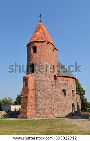 Romanesque rotunda of St. Prokop in Strzelno, Poland - stock photo