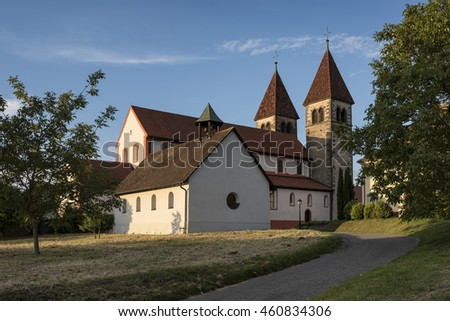 Romanesque St. Peter and Paul on the Reichenau Island